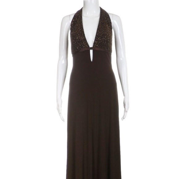 Laundry By Shelli Segal Dresses & Skirts - WEDDING SEASON LAUNDRY Brown Beaded Sequin Gown